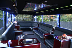 Limo coach interior